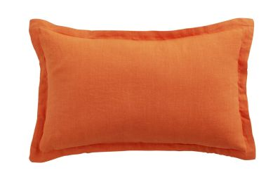 Coussin rectangulaire Lin lavé Orange 30x50