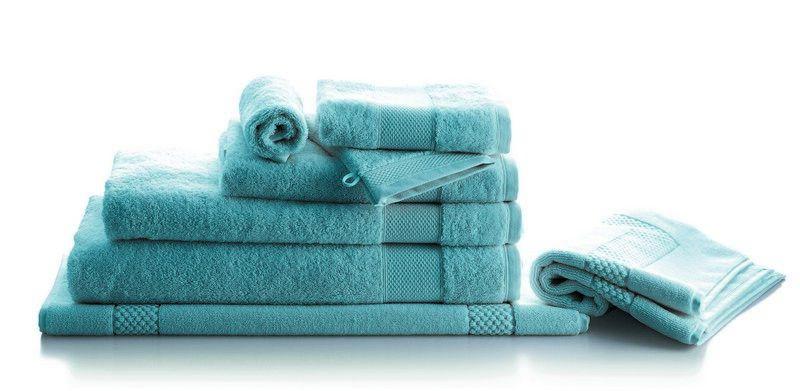 drap de bain ponge p tale azur 70x140 linge de maison. Black Bedroom Furniture Sets. Home Design Ideas