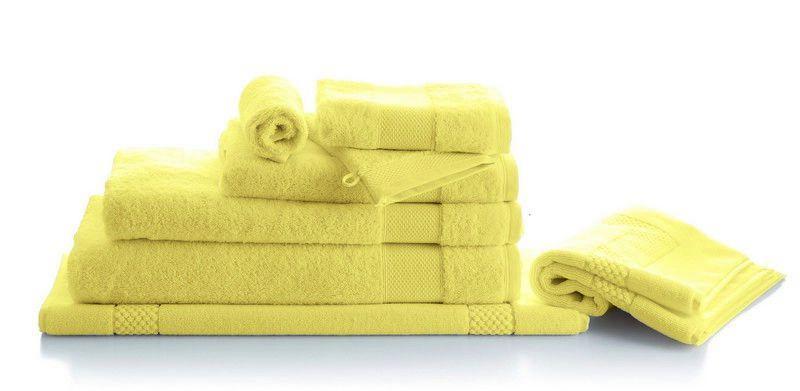 drap de bain ponge p tale jonquille 70x140 linge de maison. Black Bedroom Furniture Sets. Home Design Ideas