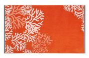 Drap de plage Lagon en coton orange 100x180
