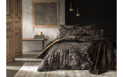 drap housse artiste or percale 160x200 linge de maison. Black Bedroom Furniture Sets. Home Design Ideas