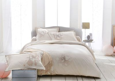 Drap plat Reflets nude percale 270x310