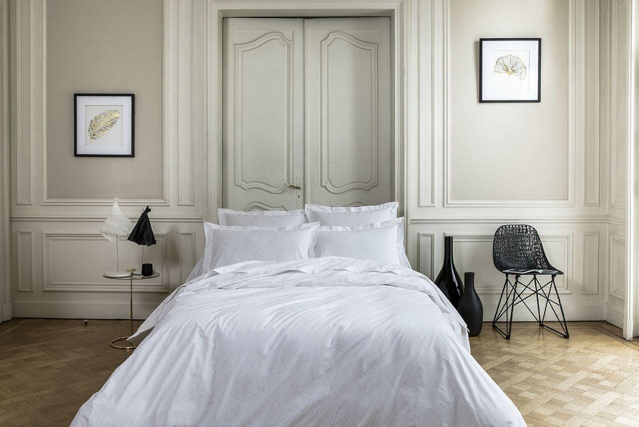 Anne de Solene El/égance Housse de Couette Coton Blanc 140 x 200 cm