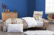 Housse de couette Tempera Inspiration en percale multicolore 140x200