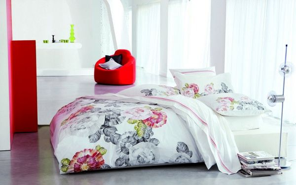 housse de couette percale covent garden 140x200 linge de maison. Black Bedroom Furniture Sets. Home Design Ideas