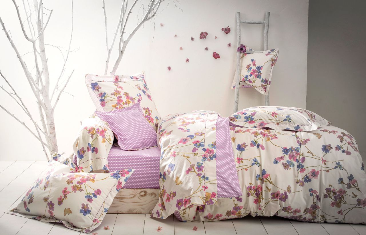 housse de couette percale garden dream violette 240x220 anne de sol ne. Black Bedroom Furniture Sets. Home Design Ideas