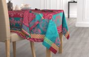 Lot de 2 serviettes de table Baroque coton jacquard Fushia 47x47