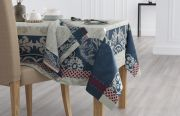 Lot de 2 serviettes de table Baroque coton jacquard Multicolore 47x47