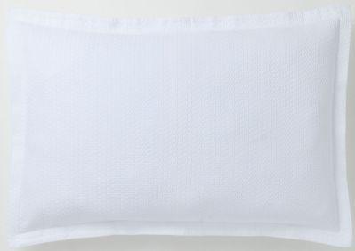 taie d 39 oreiller alix blanc coton 50x75 linge de maison. Black Bedroom Furniture Sets. Home Design Ideas