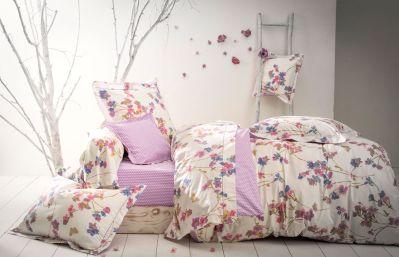 taie d 39 oreiller garden dream violette percale 50x75 linge de maison. Black Bedroom Furniture Sets. Home Design Ideas