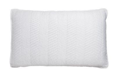 taie d 39 oreiller lut ce satin de coton matellass blanc 50x75 linge de maison. Black Bedroom Furniture Sets. Home Design Ideas