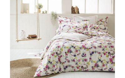 taie d 39 oreiller imprim e farandole multicolore percale 50x75 linge de maison. Black Bedroom Furniture Sets. Home Design Ideas