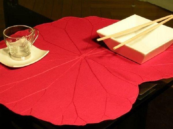 Set de table lotus rose indien for Set de table rose