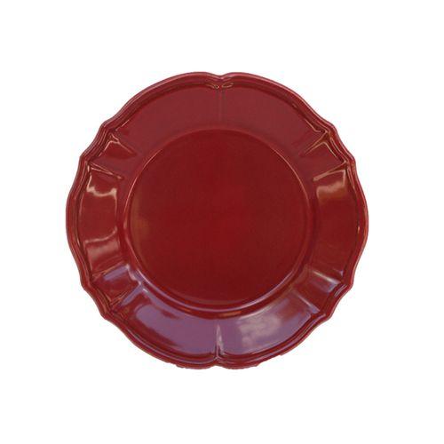 assiette dessert fa ence maintenon rouge art de la table. Black Bedroom Furniture Sets. Home Design Ideas
