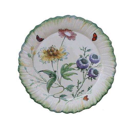 Assiette dessert ronde fa ence folies botaniques for Decoration a l assiette