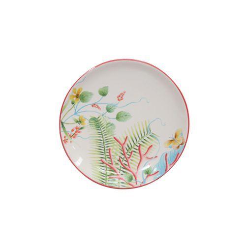 Assiette pain fa ence fleur de corail 15 5cm for Decoration a l assiette