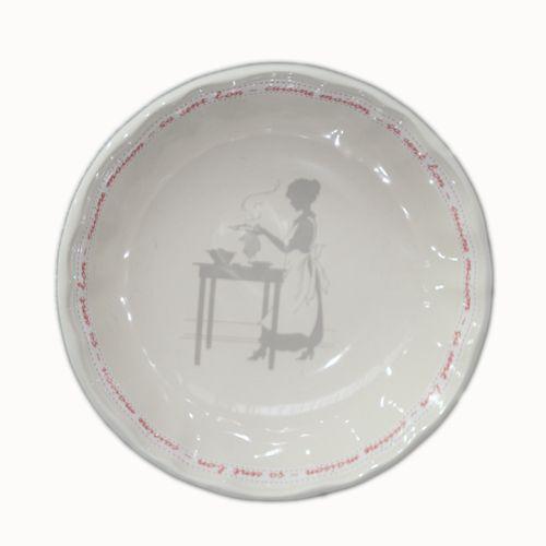 assiette calotte ronde fa ence service de famille fa encerie de niderviller. Black Bedroom Furniture Sets. Home Design Ideas