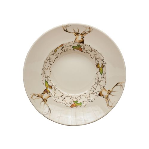 assiette creuse ronde chambord fa ence art de la table. Black Bedroom Furniture Sets. Home Design Ideas
