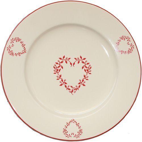 nouveau style 6ea50 dd9f0 Assiette de présentation Tendre rouge faïence