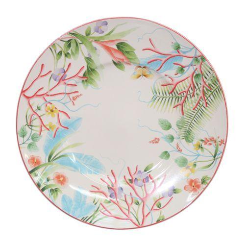 assiette plate fa ence fleur de corail 27 5cm fa encerie de niderviller. Black Bedroom Furniture Sets. Home Design Ideas