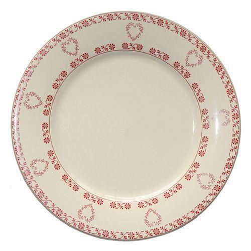 assiette plate ronde fa ence tendre rouge fa encerie de niderviller. Black Bedroom Furniture Sets. Home Design Ideas