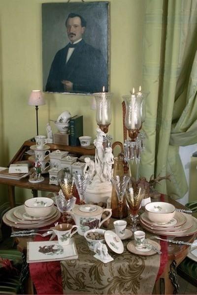 Service de table fa ence fontainebleau 2 art de la table - Table des marechaux fontainebleau ...