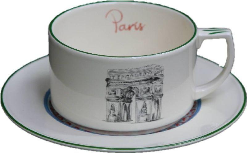 Soucoupe Paris 40cl Tasseamp; Déjeuner Faïence W29EIHDY