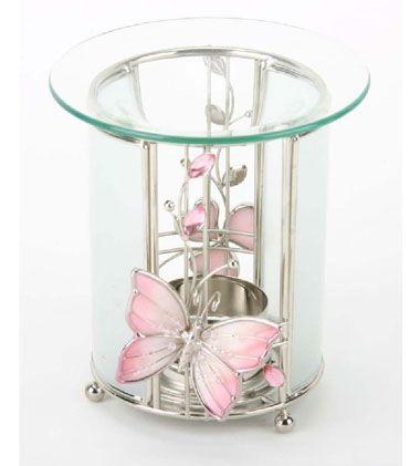 photophore verre papillon rond d coration. Black Bedroom Furniture Sets. Home Design Ideas