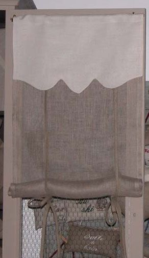 brise bise lin ivoire ancien 40x100. Black Bedroom Furniture Sets. Home Design Ideas