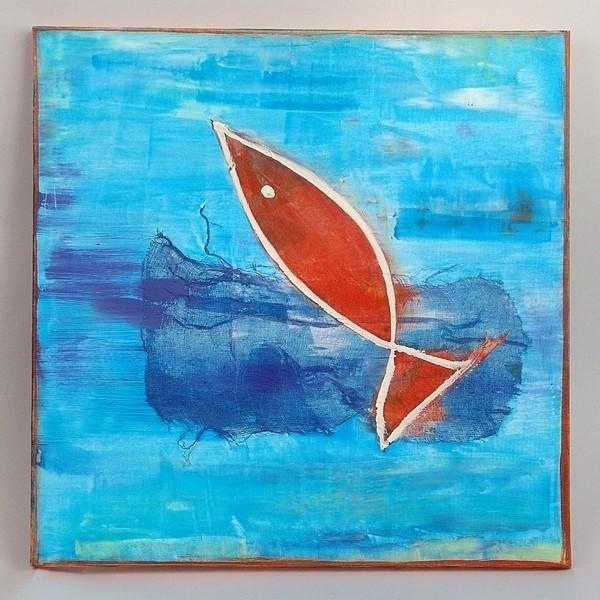 Très Tableau poisson rouge UW52