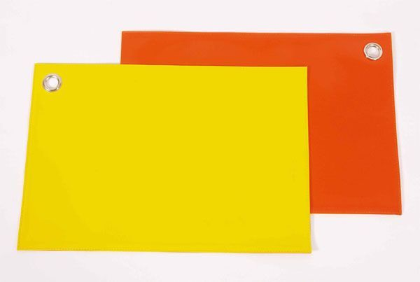 Set de table plastique bicolore orange et jaune for Set de table verre