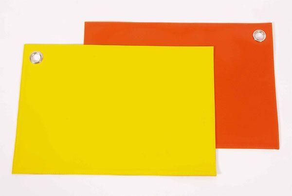 set de table plastique bicolore orange et jaune art de la table. Black Bedroom Furniture Sets. Home Design Ideas