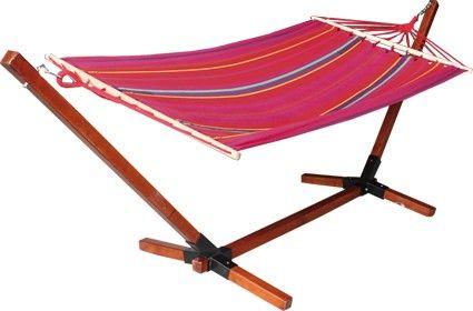 hamac bois et toile ossature carr meubles de jardin. Black Bedroom Furniture Sets. Home Design Ideas