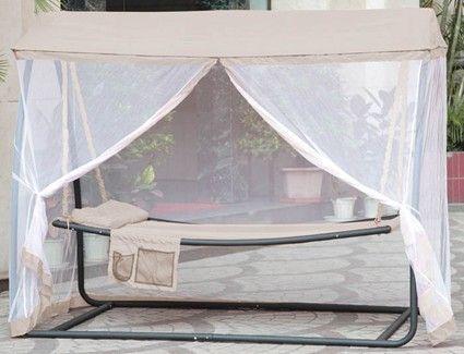 hamac lit coton blanc. Black Bedroom Furniture Sets. Home Design Ideas