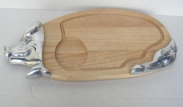Planche d couper bois alu bross cochon - Planche a decouper bois ...