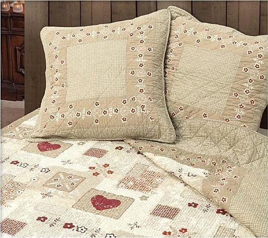 parure de lit boutis aspen chamois 230x250 linge de maison. Black Bedroom Furniture Sets. Home Design Ideas