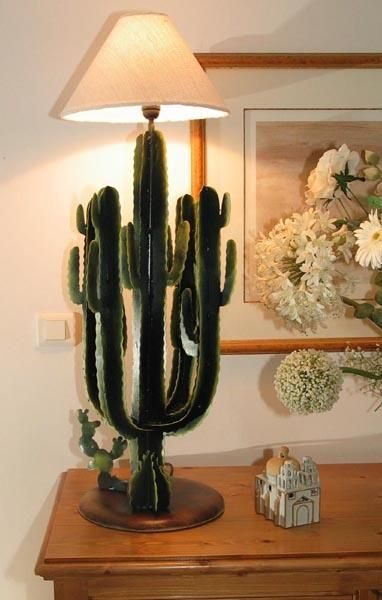 lampe m tal d coup cactus cand labre. Black Bedroom Furniture Sets. Home Design Ideas