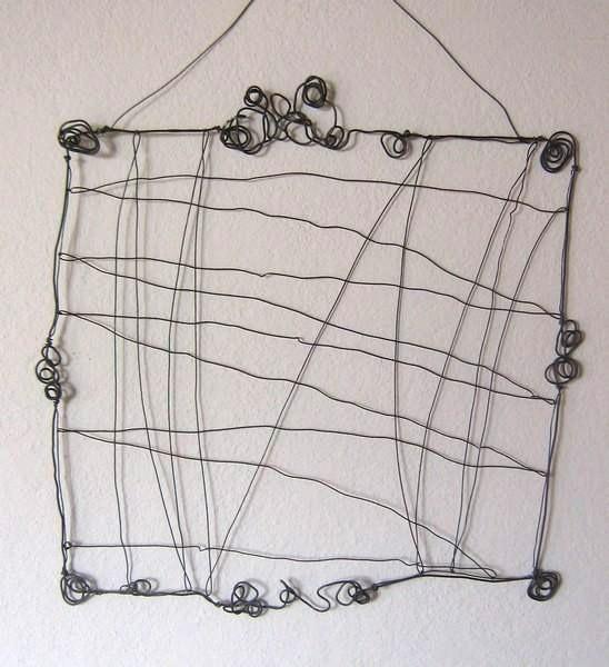Porte photo en fil de fer for Decoration porte fer