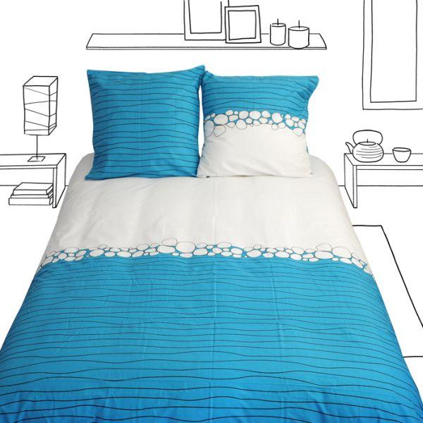 housse de couette galets 260x240. Black Bedroom Furniture Sets. Home Design Ideas