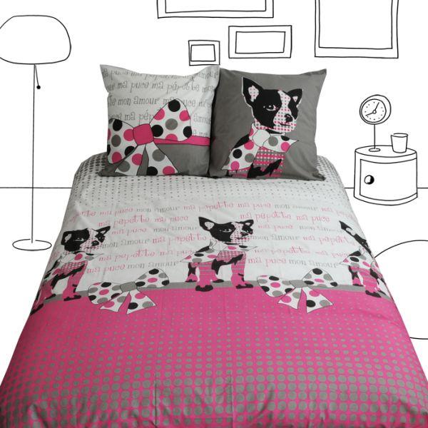 parure de lit pepette 2 taies 240x220 linge de maison. Black Bedroom Furniture Sets. Home Design Ideas