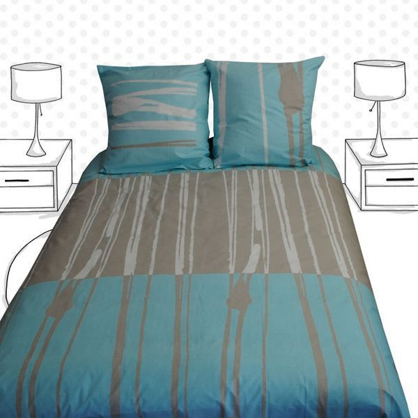 taie d 39 oreiller ligne 65x65 linge de maison. Black Bedroom Furniture Sets. Home Design Ideas