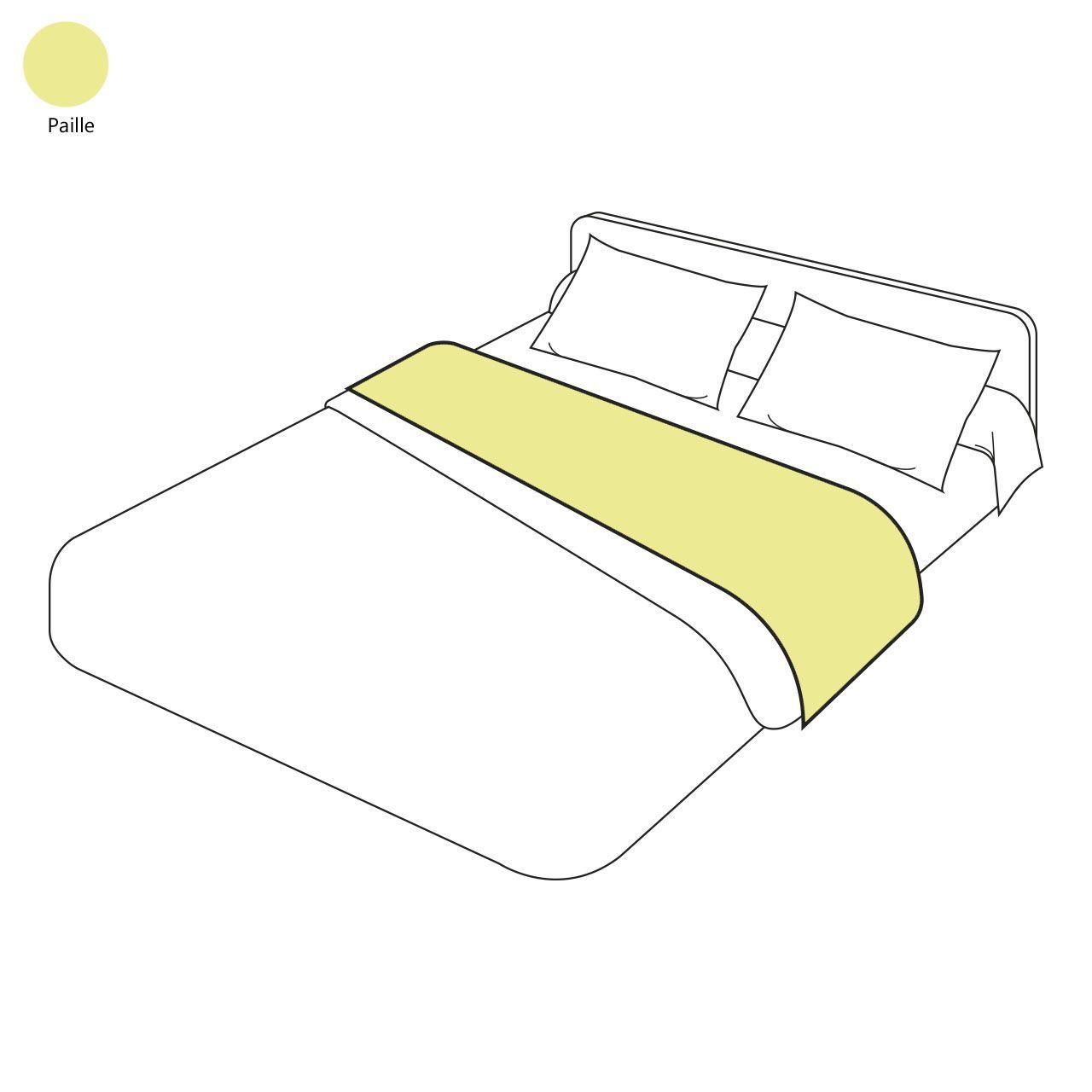 drap de lit uni paille 180x290 tradilinge. Black Bedroom Furniture Sets. Home Design Ideas
