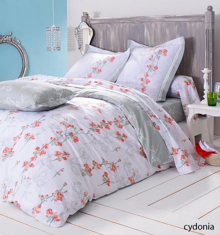 drap housse cydonia 140x190 linge de maison. Black Bedroom Furniture Sets. Home Design Ideas