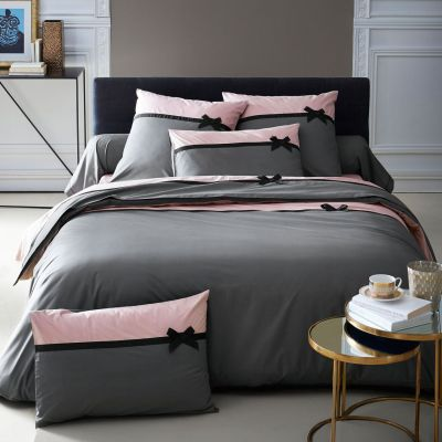 Drap housse Frou Frou anthracite percale