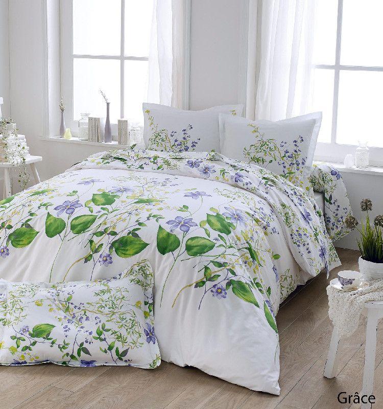 drap housse gr ce percale 140x190 linge de maison. Black Bedroom Furniture Sets. Home Design Ideas