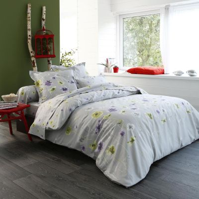 drap housse sarah satin 90x190 linge de maison. Black Bedroom Furniture Sets. Home Design Ideas