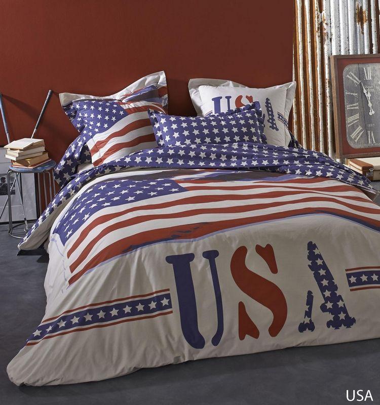 drap housse usa 90x190 linge de maison. Black Bedroom Furniture Sets. Home Design Ideas