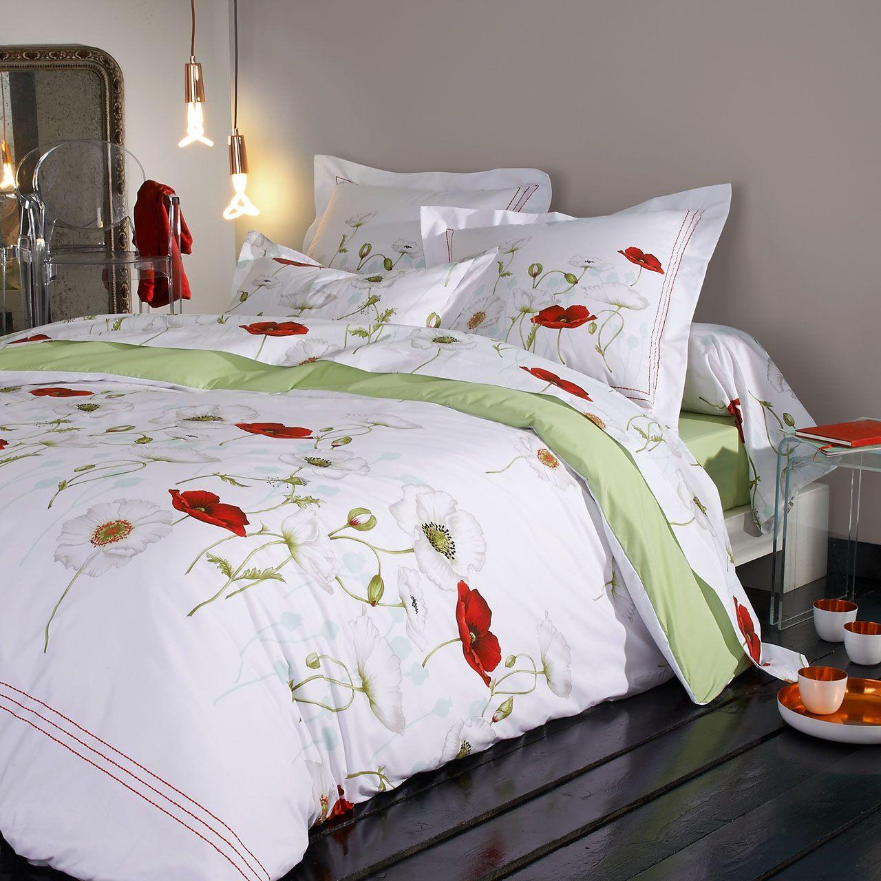 drap housse percale s duction 160x200 tradilinge. Black Bedroom Furniture Sets. Home Design Ideas