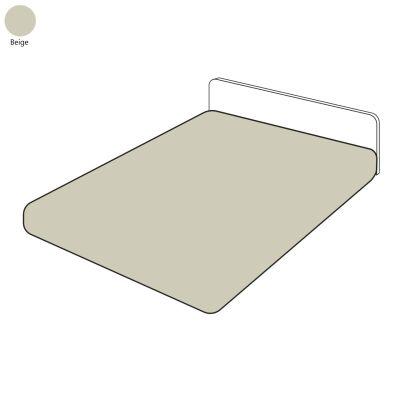 drap housse uni beige percale 80x200 linge de maison. Black Bedroom Furniture Sets. Home Design Ideas
