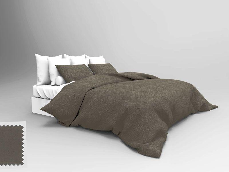 drap housse uni marron glac percale 80x200 linge de maison. Black Bedroom Furniture Sets. Home Design Ideas